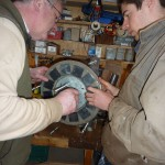 Sean and James fit the first magnet rotor