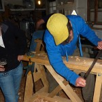 carving the 2 metre blades